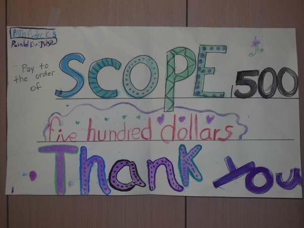 Students at Pathfinder K-8 chose to support SCOPE's work in Ethiopia!